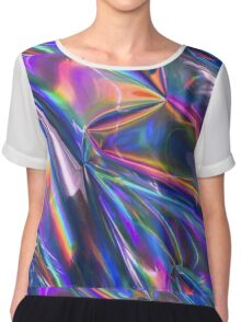 Holographic Material Chiffon Top