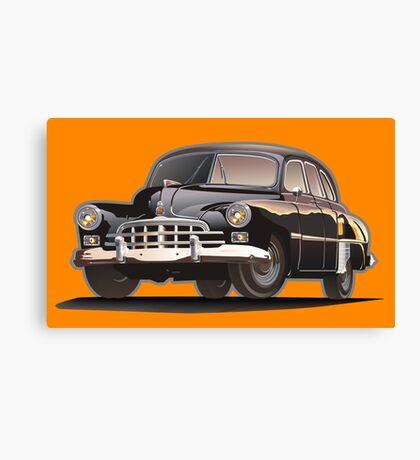 Retro limousine Canvas Print