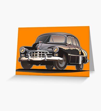 Retro limousine Greeting Card