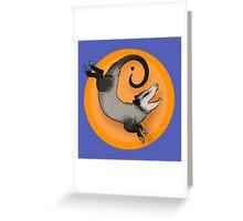 Happy Opossum Greeting Card
