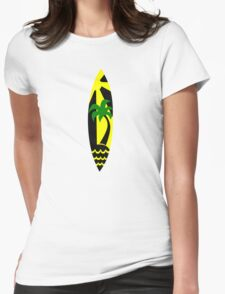 Surfboard surfing Womens Fitted T-Shirt