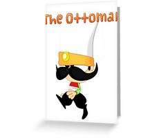 Janissary the Ottoman Warrior (Comics with Label) Greeting Card
