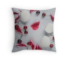 Marshmallows & cherries Throw Pillow