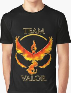 Team Valor With Flame Effect Graphic T-Shirt