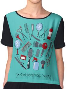 Barber and Hairdresser Tools Set Chiffon Top