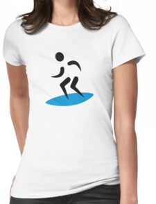 Surfer logo Womens Fitted T-Shirt