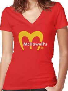 MCDOWELL´S - COMING TO AMERICA - EDDIE MURPHY Women's Fitted V-Neck T-Shirt