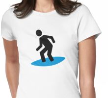 Surfing symbol Womens Fitted T-Shirt