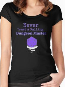 Never Trust A Smiling Dungeon Master Women's Fitted Scoop T-Shirt