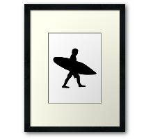 Surfer surfboard Framed Print