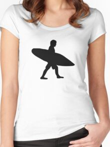 Surfer surfboard Women's Fitted Scoop T-Shirt