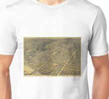 Vintage Pictorial Map of Austin Texas (1887) Unisex T-Shirt