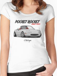 Mazda MX-5 Miata (white) Women's Fitted Scoop T-Shirt