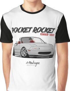Mazda MX-5 Miata (white) Graphic T-Shirt