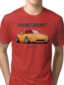 Mazda MX-5 Miata (yellow) Tri-blend T-Shirt