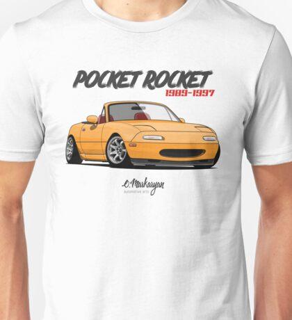 Mazda MX-5 Miata (yellow) Unisex T-Shirt