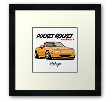 Mazda MX-5 Miata (yellow) Framed Print