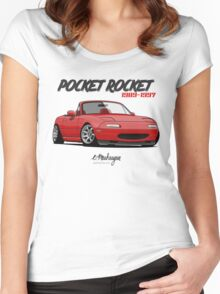 Mazda MX-5 Miata (red) Women's Fitted Scoop T-Shirt