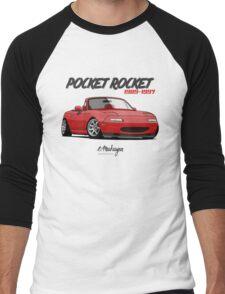 Mazda MX-5 Miata (red) Men's Baseball ¾ T-Shirt