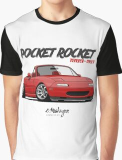 Mazda MX-5 Miata (red) Graphic T-Shirt