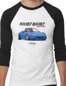 Mazda MX-5 Miata (blue) Men's Baseball ¾ T-Shirt