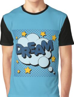 Bubble with Expression Dream in Vintage Comics Style Graphic T-Shirt