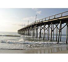 Pier Waves Photographic Print