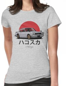 Nissan Skyline GT-R hakosuka (silver) Womens Fitted T-Shirt