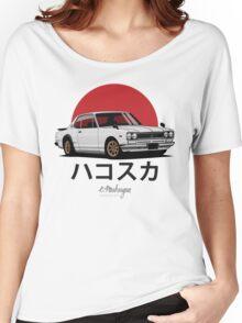 Nissan Skyline GT-R hakosuka (white) Women's Relaxed Fit T-Shirt