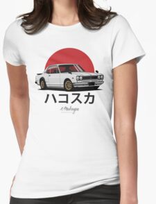 Nissan Skyline GT-R hakosuka (white) Womens Fitted T-Shirt