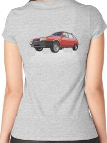 Car illustration Women's Fitted Scoop T-Shirt