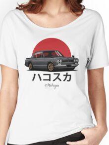 Nissan Skyline GT-R hakosuka (black) Women's Relaxed Fit T-Shirt