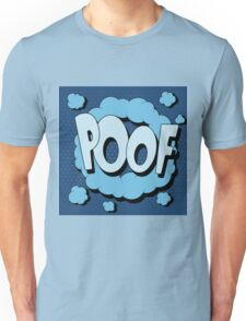 Bubble with Expression Poof in Vintage Comics Style Unisex T-Shirt
