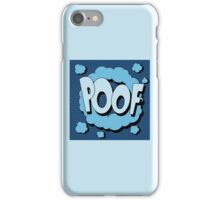 Bubble with Expression Poof in Vintage Comics Style iPhone Case/Skin