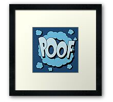 Bubble with Expression Poof in Vintage Comics Style Framed Print