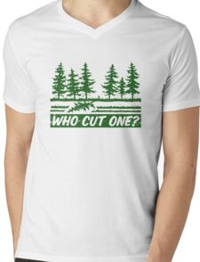 Who Cut One Mens V-Neck T-Shirt