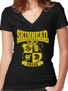 SKINHEAD PRIDE Women's Fitted V-Neck T-Shirt