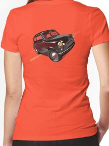 Retro car Women's Fitted V-Neck T-Shirt