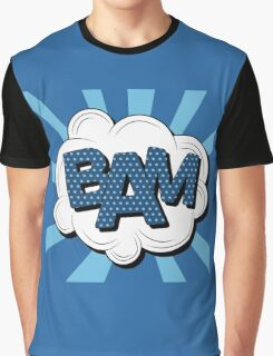 Bubble with Expression Bam in Vintage Comics Style Graphic T-Shirt