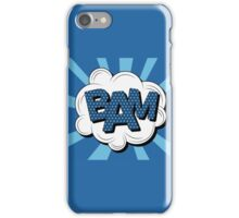 Bubble with Expression Bam in Vintage Comics Style iPhone Case/Skin