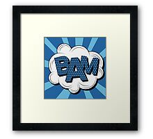 Bubble with Expression Bam in Vintage Comics Style Framed Print