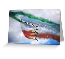 The Frecce Tricolori  Greeting Card