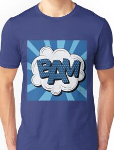 Bubble with Expression Bam in Vintage Comics Style Unisex T-Shirt