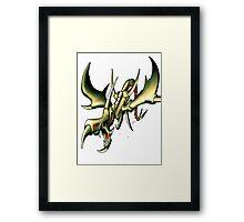 curse of dragon yugioh Framed Print