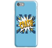 Bubble with Expression Crash in Vintage Comics Style iPhone Case/Skin
