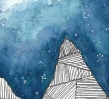 Geometric Mountains Sticker