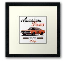 Dodge Charger 69 General Lee Framed Print
