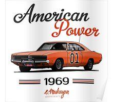 Dodge Charger 69 General Lee Poster