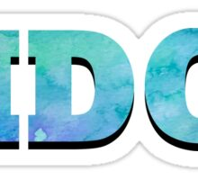 Ridge Bold Watercolor Sticker