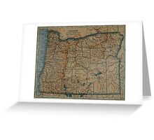 Vintage Map of Oregon (1921) Greeting Card